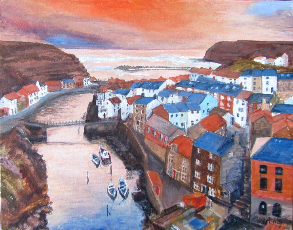 Dawn over Staithes